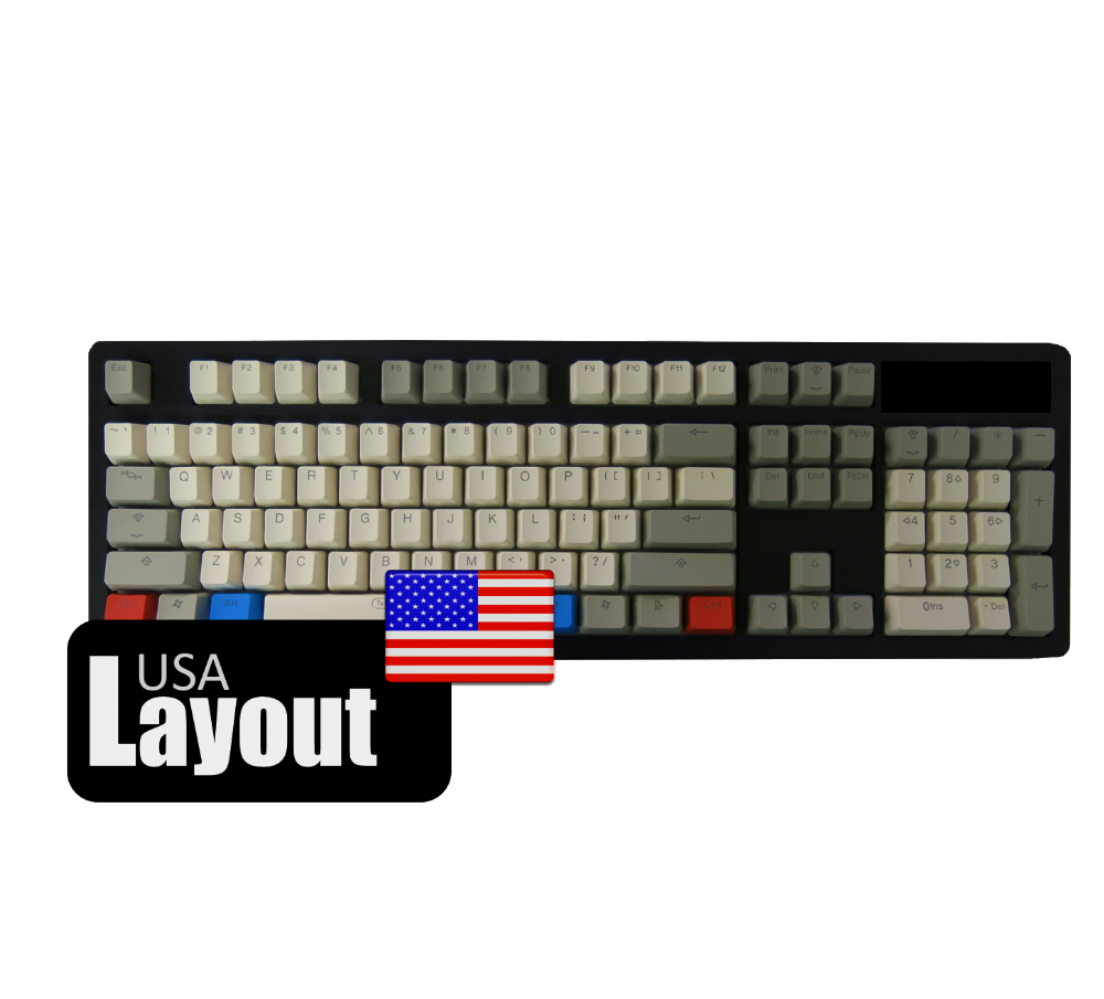 Tai-Hao ABS Backlit Double Shot Keycaps Vintage Grey USA